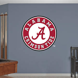 Alabama Crimson Tide Circle Logo Fathead Wall Decal
